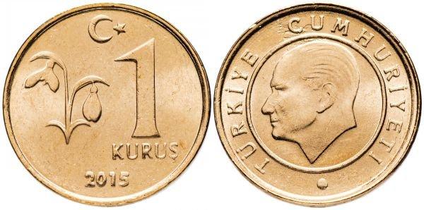 1 куруш, Турция, 2015 год