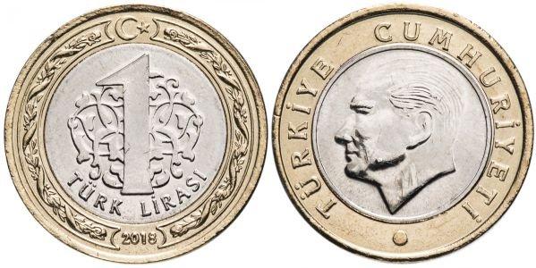 1 лира, Турция, 2018 год