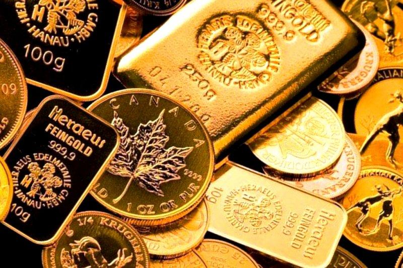 Россыпь инвестиционных монет разных стран