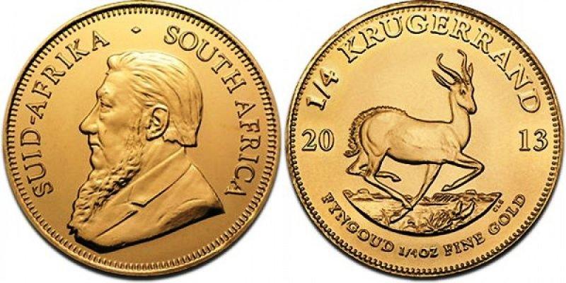 Золотая инвестиционная монета ЮАР крюгерранд