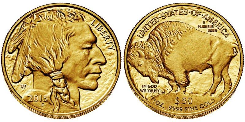 Золотая инвестиционная монета Американский бизон