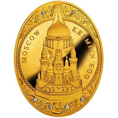 """Золотая монета """"Яйцо Московский Кремль"""" изготовлена Польским монетным двором, 2014 год"""