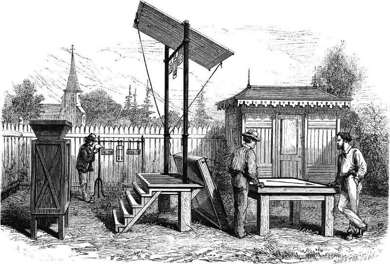 Одна из первых метеостанций в России, ориентировочно конец XVIII века