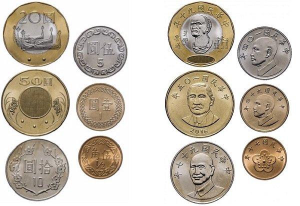 Монетный ряд Тайваня. 1981-2016 гг.