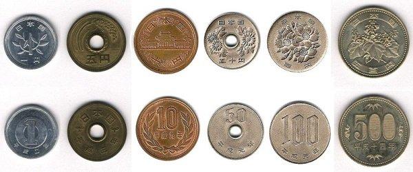 Современные монеты Японии