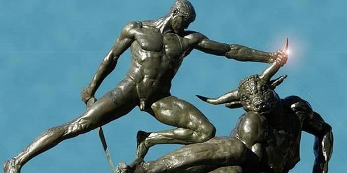 Тесей, поражающий минотавра