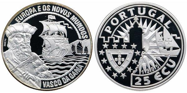Португалия 25 экю 1995 «Европа и Новый Свет -  Васко да Гама»