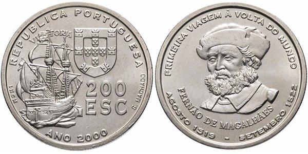 Португалия 200 эскудо 2000 года «Фернан Магеллан»