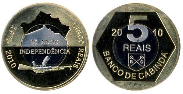 Ангола (провинция Кабинда) 5 реалов, 2010 год