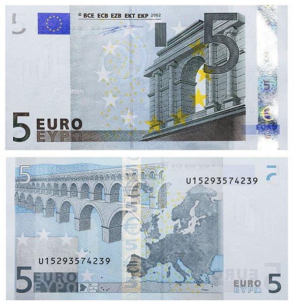 5 евро 2002 года