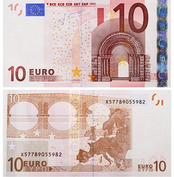 10 евро 2002 года