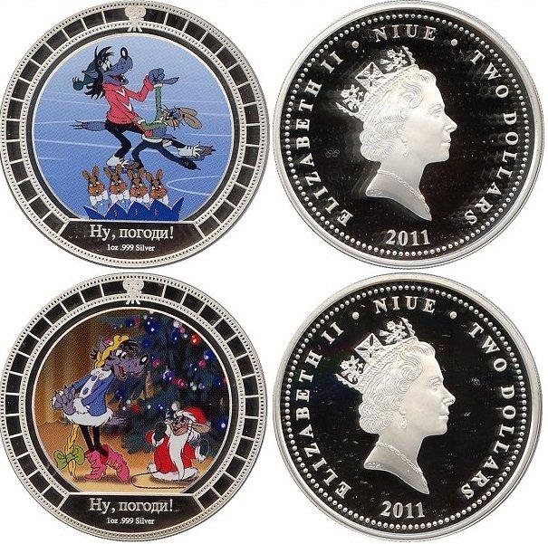 Монеты Ниуэ, 2 доллара