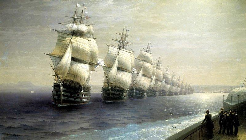 И.К. Айвазовский «Смотр Черноморского флота в 1849 году» (1886 г.)