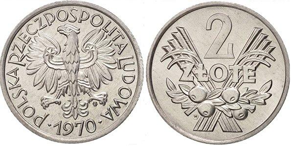 2 злотых 1958-1974 гг.