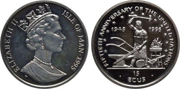 Остров Мэн. 1995 год. Серебро. 10 г
