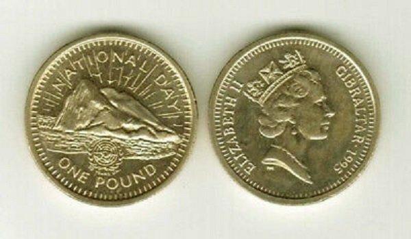 1 фунт. Гибралтар (заморская территория Британской Короны). 1995 год. Латунь
