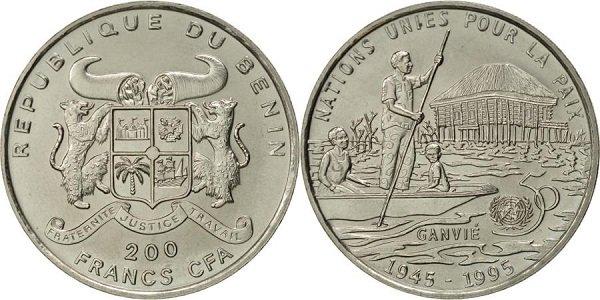 200 франков. Бенин. 1995 год. Мельхиор