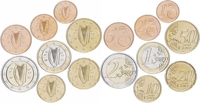 Комплект обиходных евромонет Ирландии