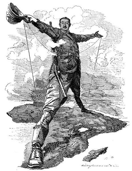 Карикатура на Сесила Родса. 1892 год