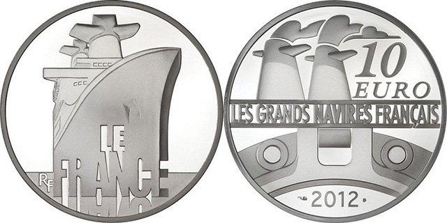 10 евро Франции 2012 года «LE FRANCE»