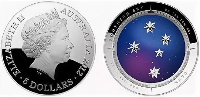5 долларов Австралии 2012 года «Southern Cross in Night Sky»