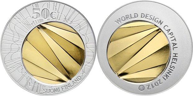 50 евро Финляндии 2012 года «Хельсинки — столица мирового дизайна 2012»