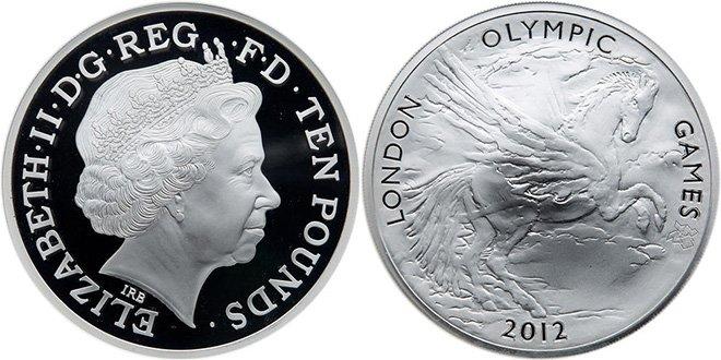 Олимпийские 10 фунтов Великобритании 2012 года
