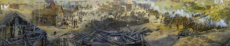 Картина Франца Рубо «Бородинская битва» 1912 г.