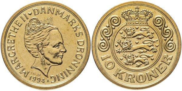 10 крон, Дания, 1994 год
