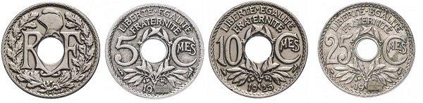 Разменная монета Третьей Республики. Эмиссия 1914-1940 гг.