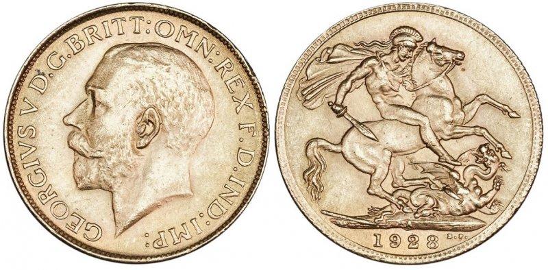 Соверен Георга V (1910-1936)