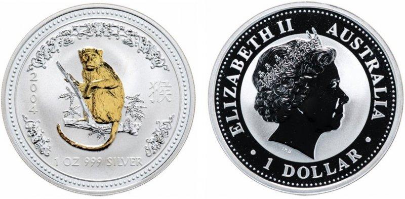 50 центов 2004 года (позолота)
