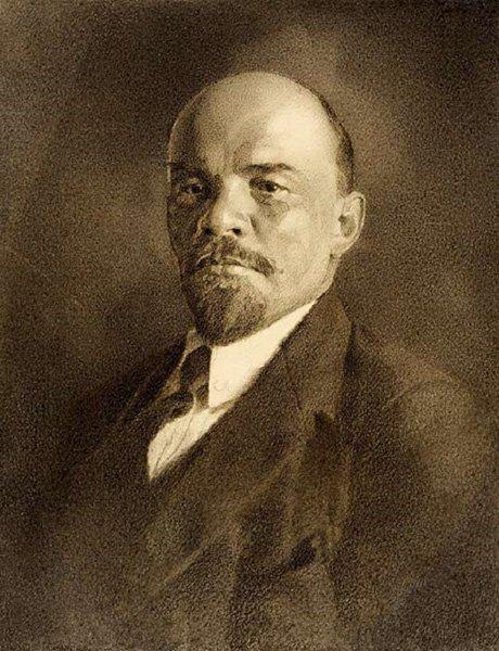 Альфред Эберлинг. Портрет В.И. Ленина. 1924 г.