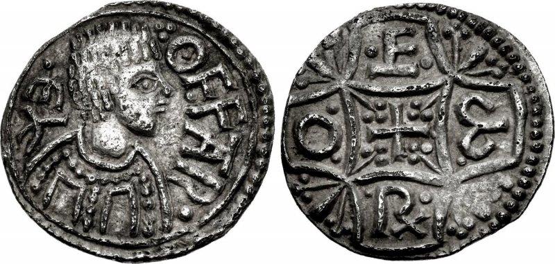 Серебряный пенни короля Мерсии Оффы (757-796)