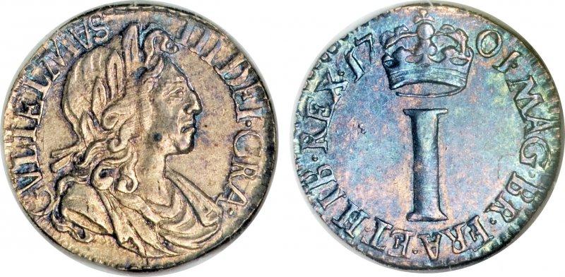 Серебряный пенни Вильгельма III, принца Оранского (1689-1702)