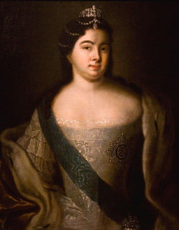 Екатерина I, императрица и самодержица Всероссийская. Портрет неизвестного художника. Первая половина XVIII века