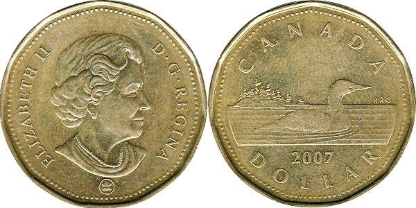 1 доллар 2007 г.