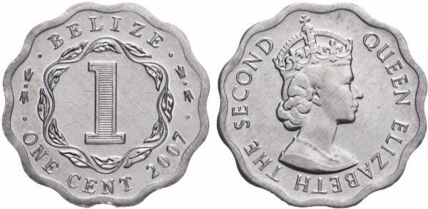 Алюминиевая монета 1 цент, Белиз, 2007 год