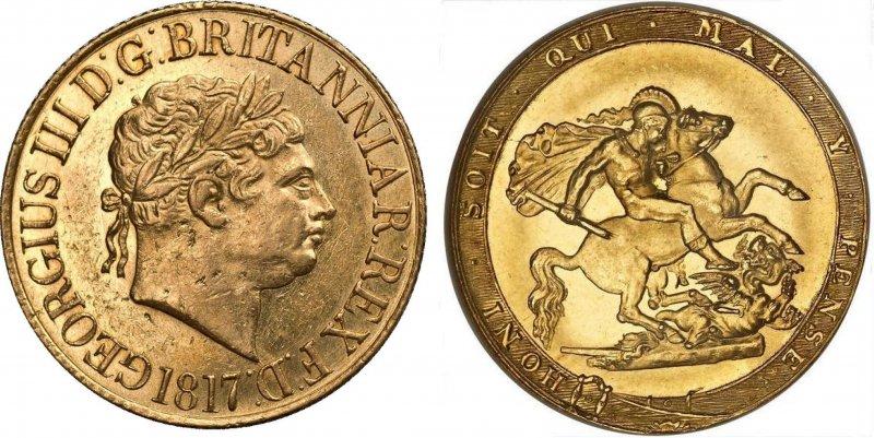 Соверен Георга III (1817)