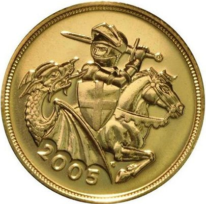 Золотой соверен (2005, реверс)