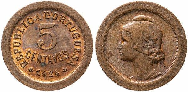 5 сентаво. Бронза. 1924 г.