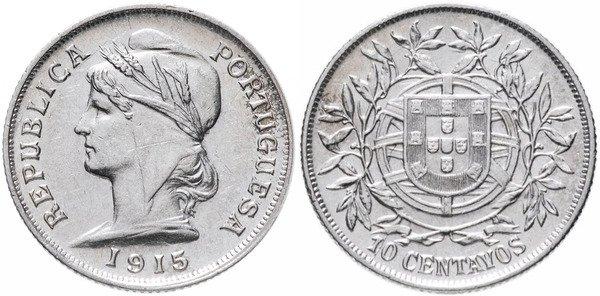 10 сентаво 1915 года