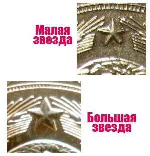 Отличия в размерах звезды
