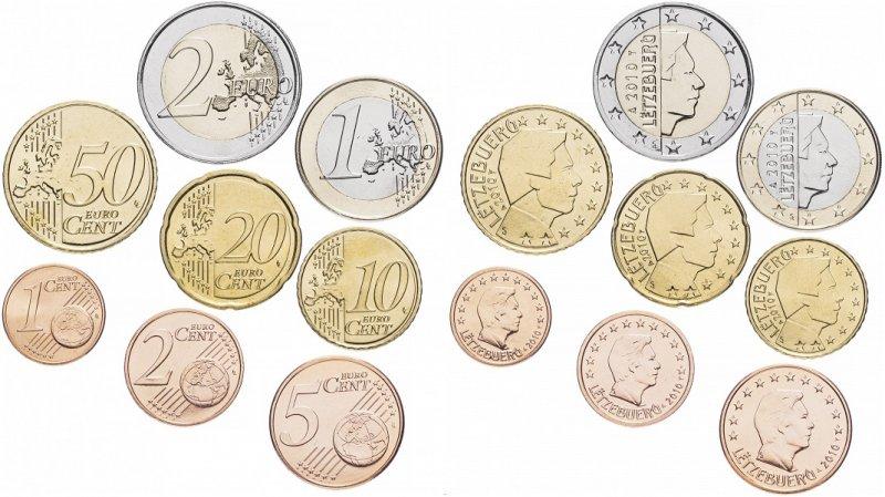 Набор монет евро Люксембурга