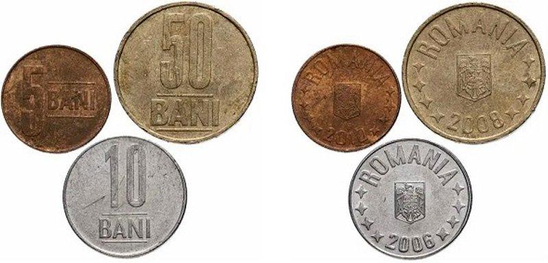 Разменные монеты Румынии 2005-2017 гг.