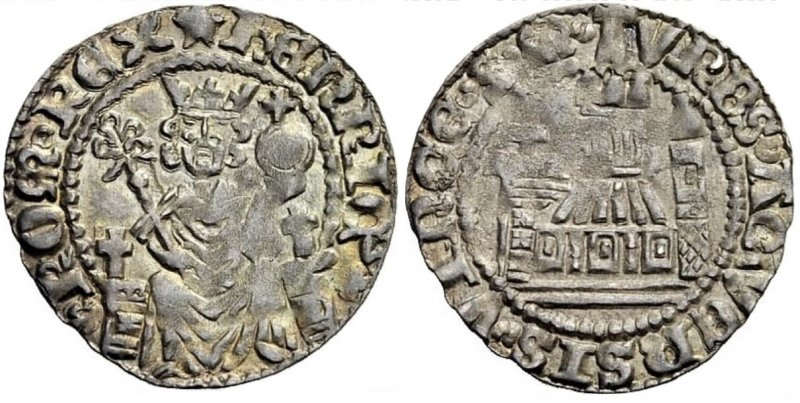 Большой пфенниг Эдуарда VII (1308-1313)