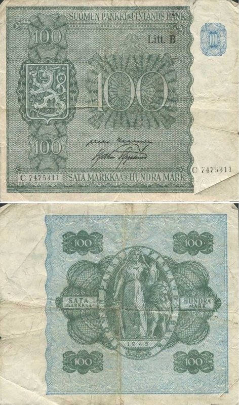 100 марок 1948