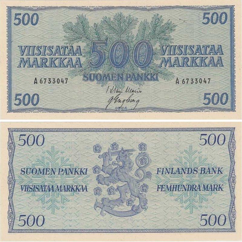 500 марок 1956