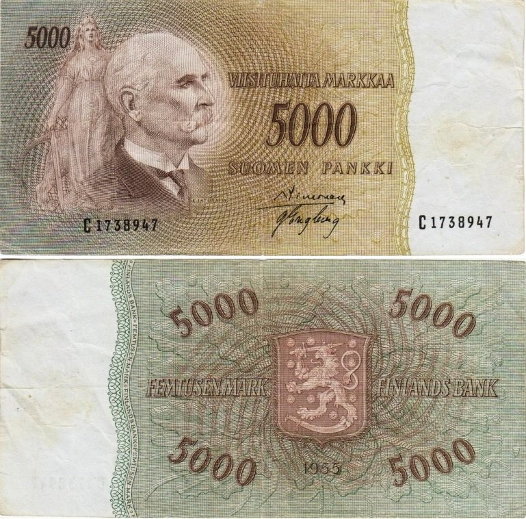 5000 марок 1955