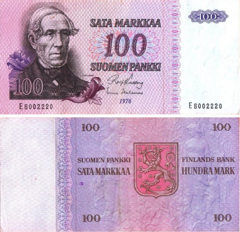 100 марок 1976